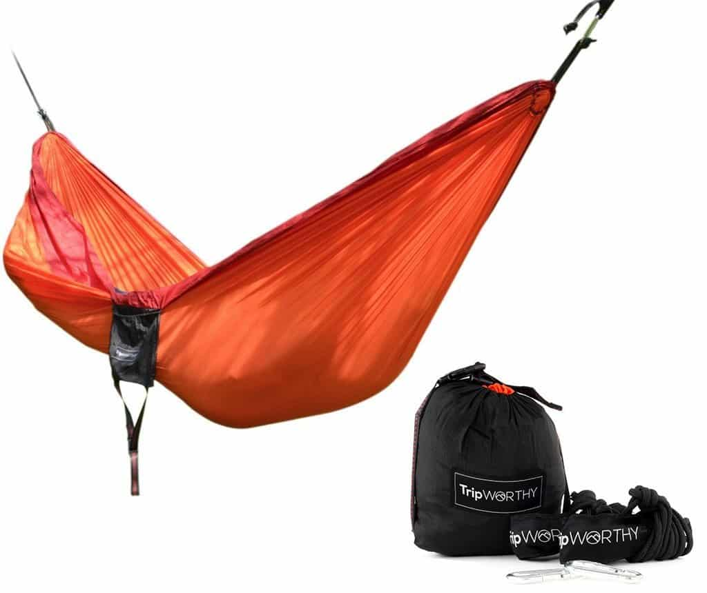 Humble High Strength Parachute Nylon Fabric Camping Single Parachute Hammock With Strong Rope For Camping Hiking Travel Camp Sleeping Gear