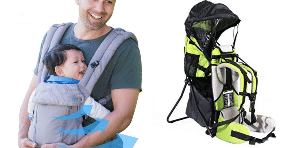 front loading and back loading baby carriers